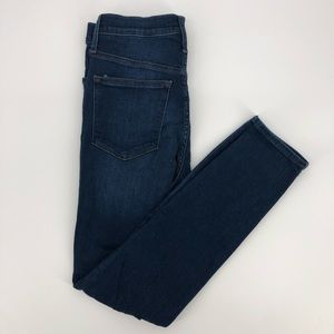 J. Crew Hi-Rise Skinny Stretch Dark Ankle Jeans